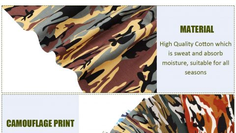 10 Pieces Fat Quarters Camouflage Print Fabric Cotton 18.8 x 18.8 Inch