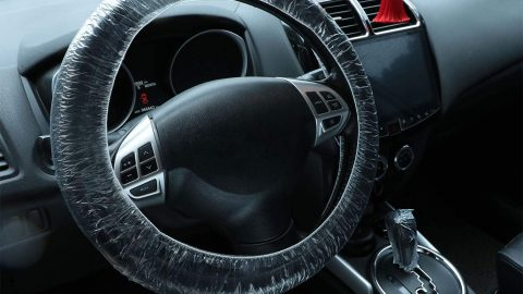 100 Pieces Disposable Steering Wheel Covers