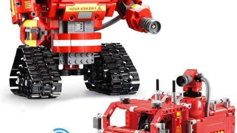 2 in 1 Building Block Robot Fire Truck