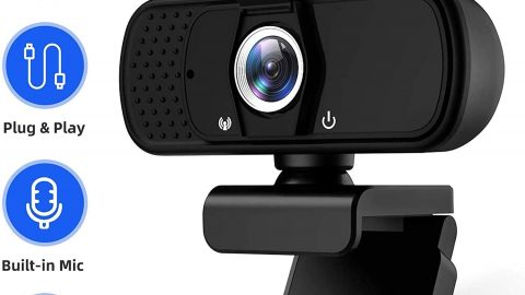 2021 Stream 1080P Webcam with Microphone & Privacy Cover