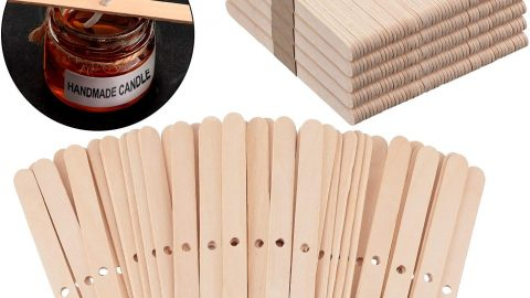 225 Pieces Wooden Candle Wick Holders