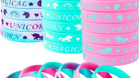 48 Pieces Magical Unicorn Silicone Wristbands
