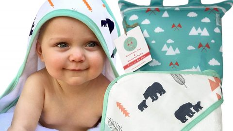 Baby Hooded Towel for Boys & Girls Organic & Luxuriously