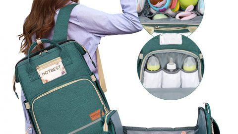 Backpack with Changing Station and USB Port Portable
