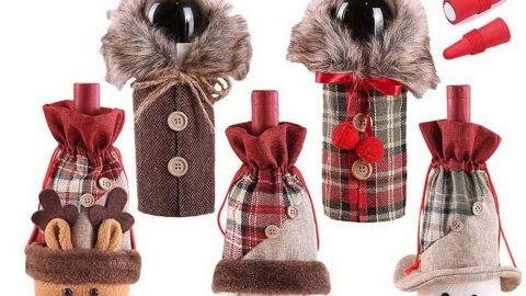 Christmas Wine Bottle Covers
