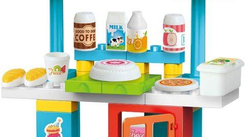 Coffee Shop Cart Brick Set