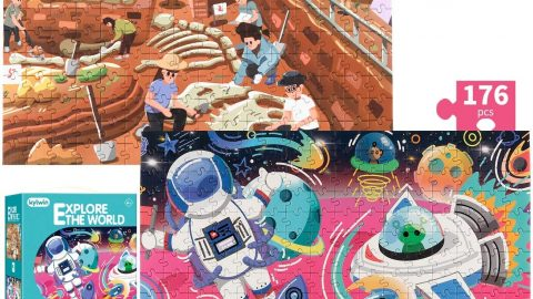 Explore The World 2-in-a-Box Double Sided Jigsaw Puzzles