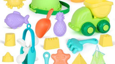 GobiDex Ready Beach Bag 20 Funky Beach Sand Toys Set