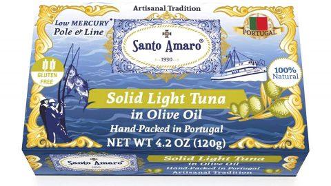 SANTO AMARO Artisanal Wild Tuna in Pure Olive Oil 12 Pack