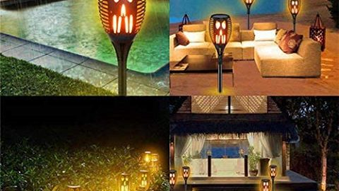 Swonuk Outdoor Solar Garden Lights, 4Pack