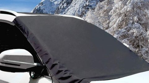 Windshield Snow Cover for Ice and Snow Magnetic& Strape