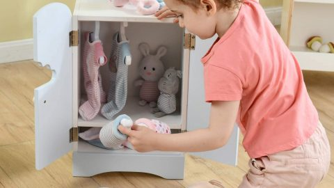 Wooden Doll Armoire 18 Inch